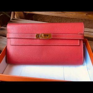 Preloved Hermes Kelly Wallet Candy Rose Jaipur